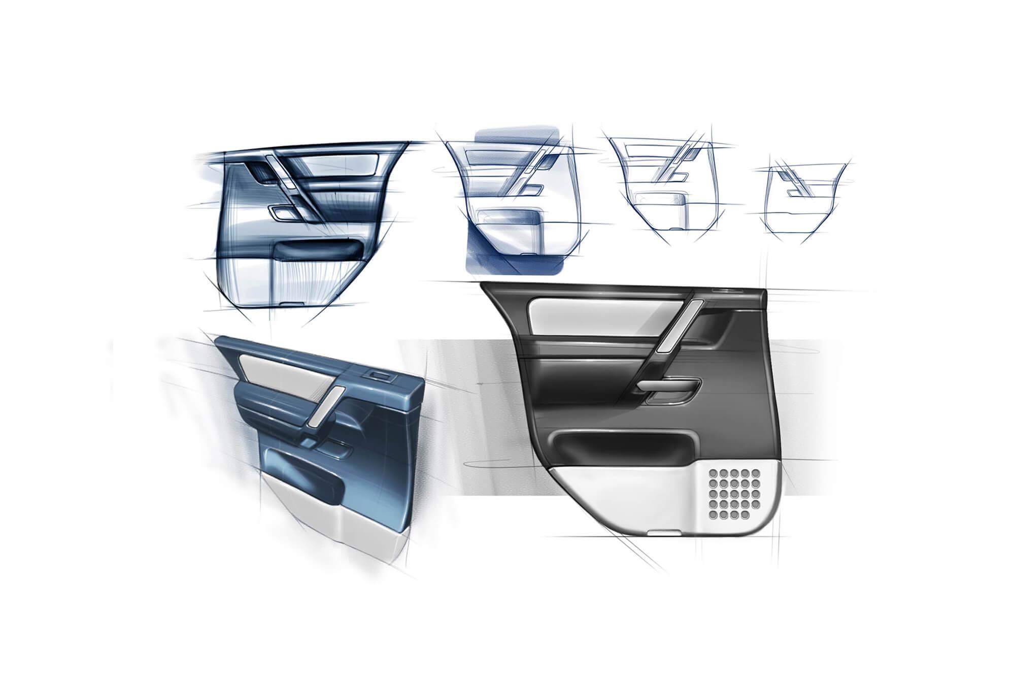 Nissan Pathfinder Armada Door Trım Kapı Tasarım
